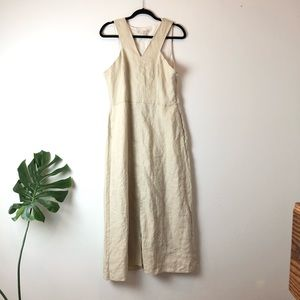 New Boston Proper Linen Cutout  Maxi Dress 14